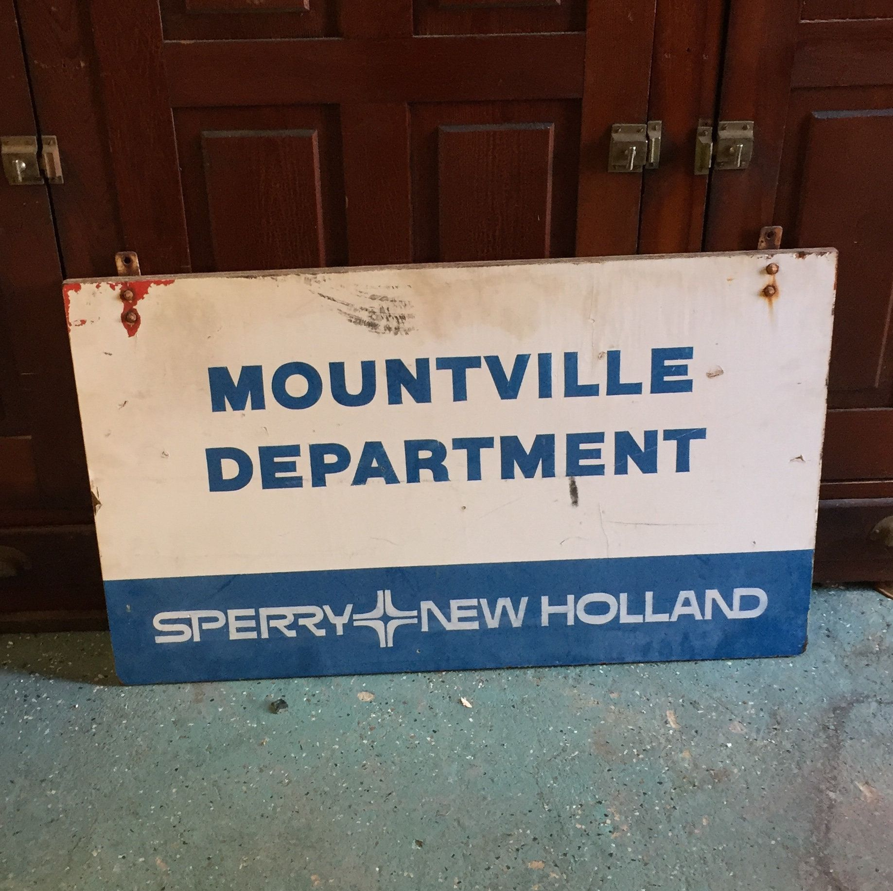 A Rare SPERRY New Holland Wooden Sign, Mountville Department, Farm ...