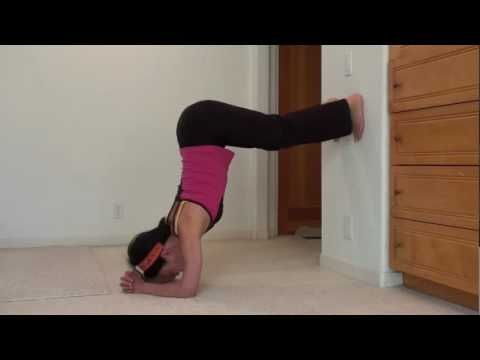 Practice pose to gain strength for the forearm stand.