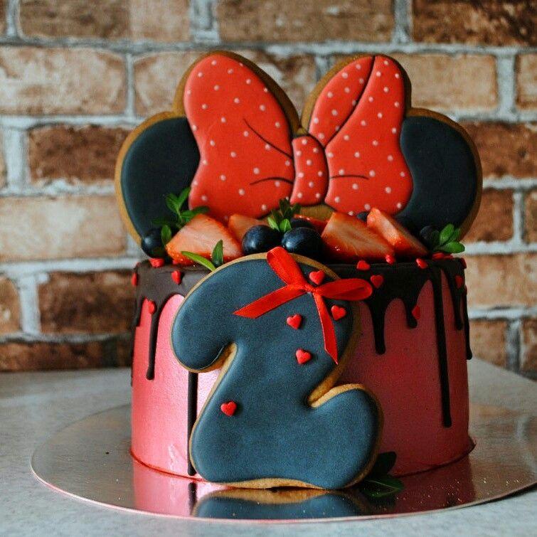 2-х ярусный Торт Микки Маус 🎂🎂🎂 Украшение Детского Торта ... | 755x755