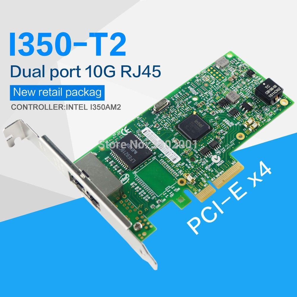 FANMI I350-T2 PCI-E 4X Server Dual RJ45 Port Gigabit Ethernet LAN