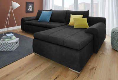 Wohnzimmergarnituren Günstig ~ Polsterecke mit bettfunktion und bettkasten #couch #sofa #ecksofa