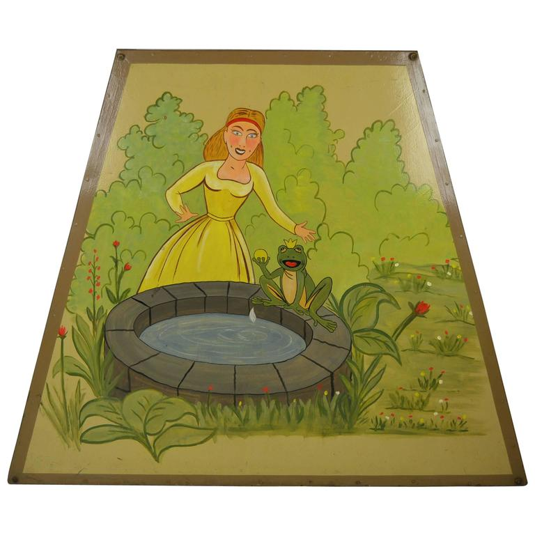1950s Carousel Panel with The Princess and the Frog For