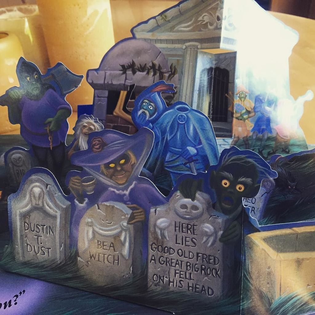 1994 Haunted Mansion PopUp Book, Illustrations by Russell