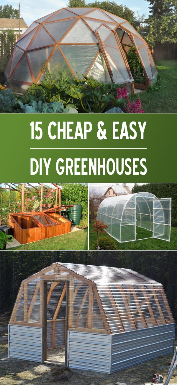 15 Cheap & Easy DIY Greenhouse Projects | Pinterest | Efecto ...