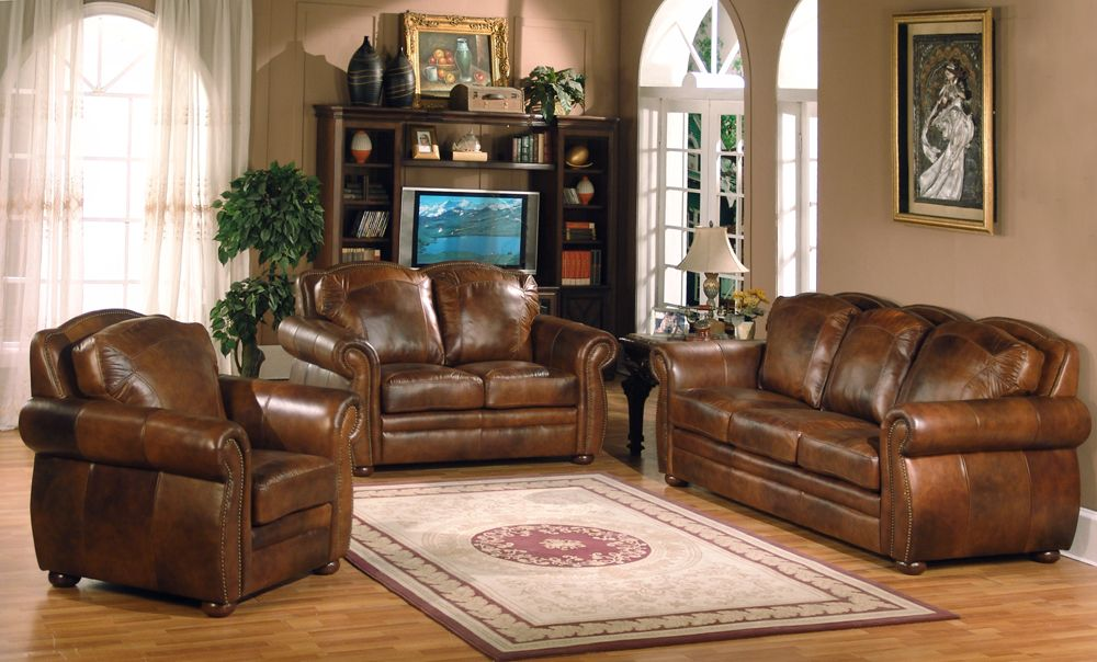 3Pc Leather Living Room Set- BEL Furniture Houston & San Antonio ...