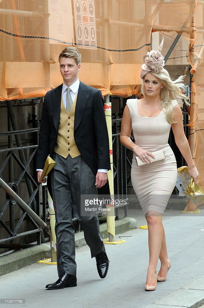 Lady Kitty Spencer Leaves Buckingham Palace Following The Wedding