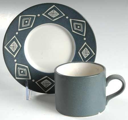 Pottery Barn Bongo (Blue) Flat Cup   Beautiful tea set ☜♥☞ 美的 ...
