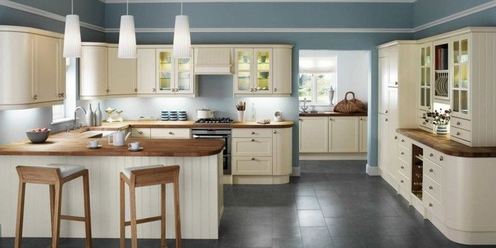 Küche Streichen   60 Vorschläge, Wie Sie Eine Cremefarbige Küche Gestalten