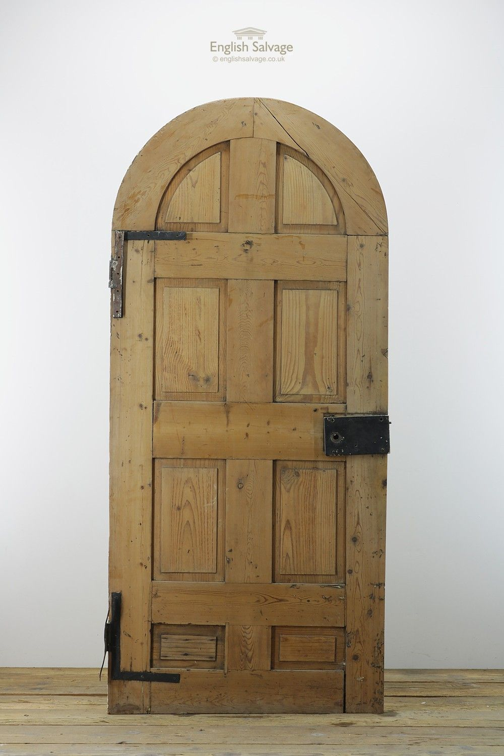 Reclaimed Arched Pine Front Door Oak Doors Pinterest Front