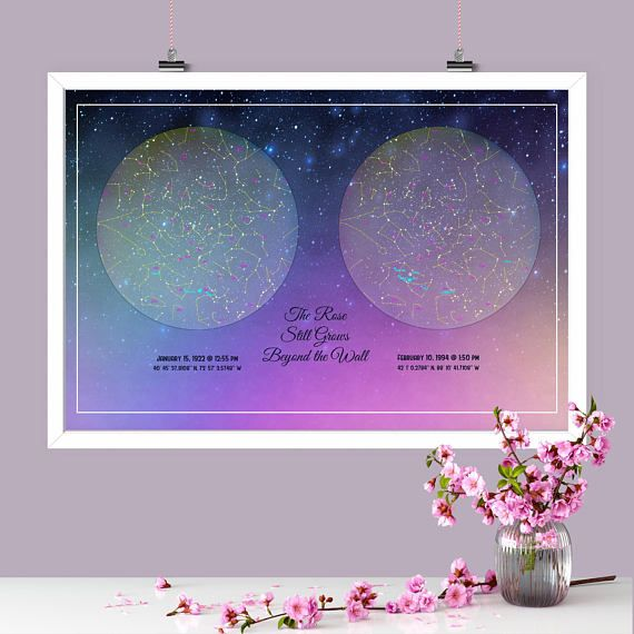My Sky Custom Star Map™ Starlight Circle of Life The night you were