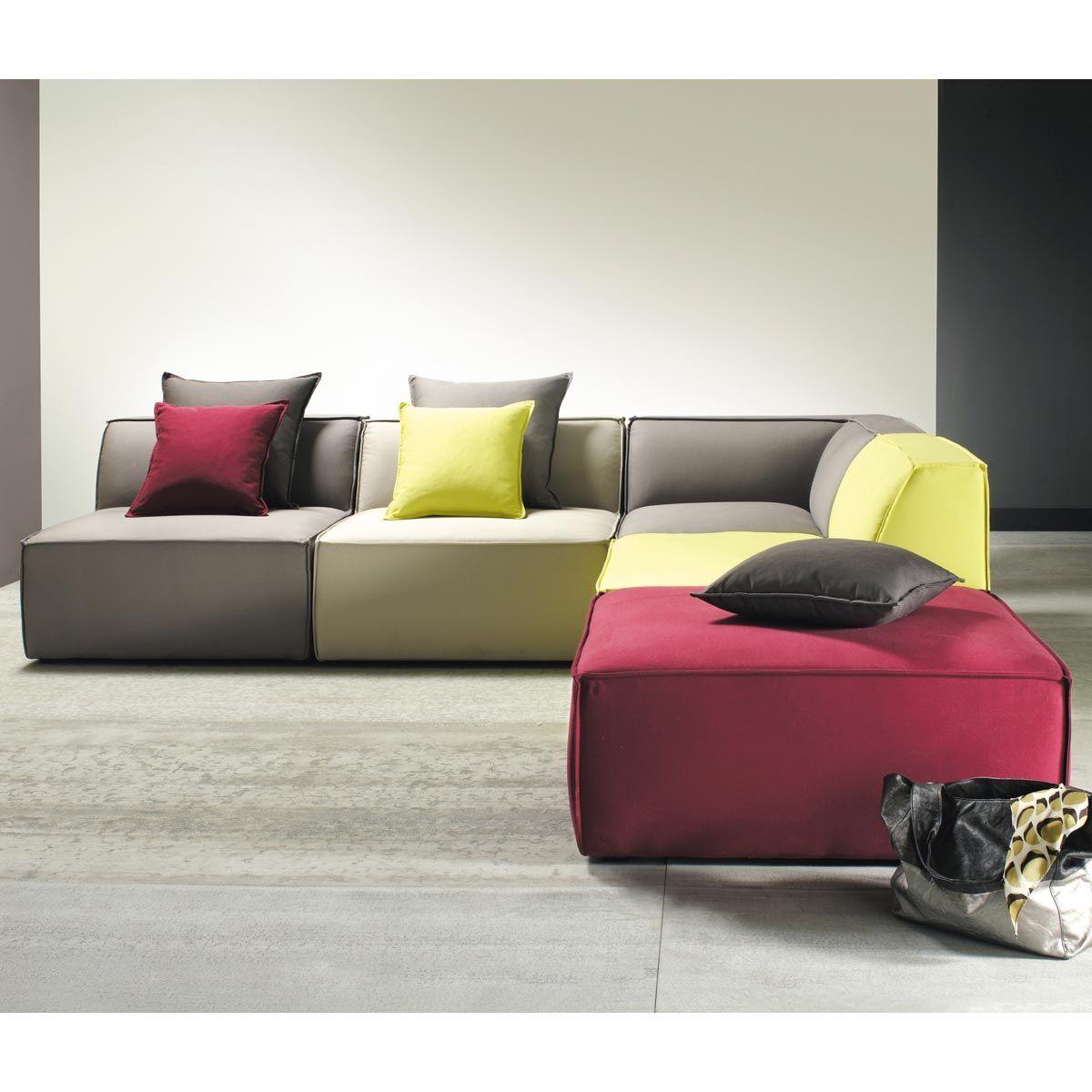 maisons du monde sitzbank modulares ecksofa bunt floride sof pinterest sofa daybed. Black Bedroom Furniture Sets. Home Design Ideas