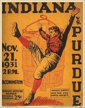 Indiana Hoosiers vs. Purdue Oaken Bucket 1931 Vintage ...