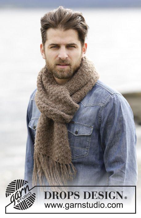 Bufanda de punto con textura y flecos | bufanda hombres | Pinterest ...