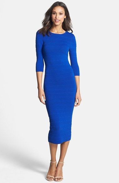 bbe34e276 FELICITY & COCO Knit Body-Con Midi Dress (Regular & Petite) (Nordstrom  Exclusive)
