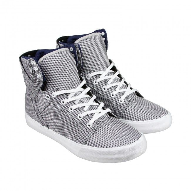 f826dd4eeb3e 65 Supra Skytop Mens Grey Textile High Top Lace Up Sneakers Shoes ...