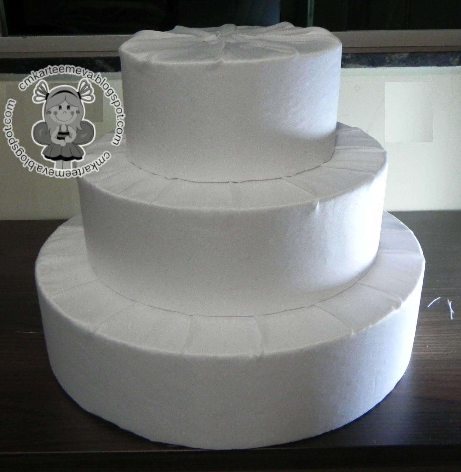 Populares Inspire sua festa » Bolo fake de tecido – Passo a passo | Cakes  PK96