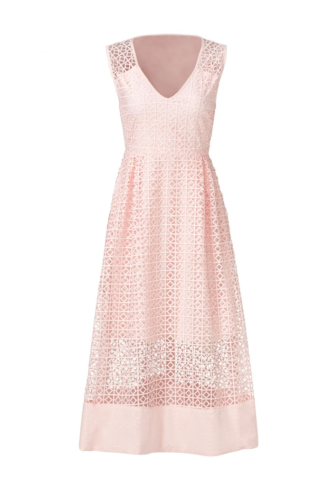 Rent Blush Geometric Lace Dress by ST by Olcay Gulsen for $35 - $50 ...