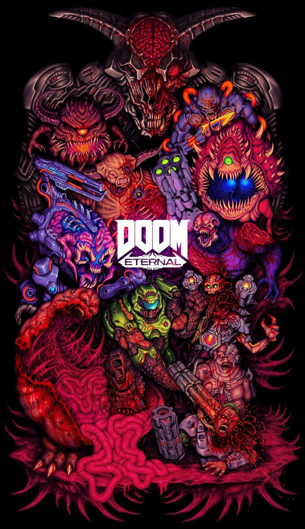 doom eternal fan art doom videogame