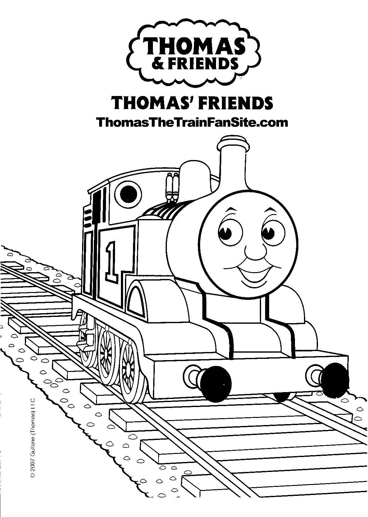 Coloring pages trains for kids - Thomas The Train Coloring Pages Free Thomas The Train Coloring