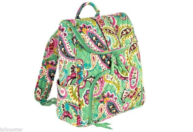 $74.99 VERA BRADLEY Double Zip Backpack TUTTI FRUTTI Book Bag School $99 SOLD OUT Style