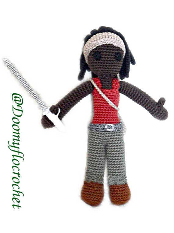 Michonne The Walking Dead Figurine crochet en par Doomyflocrochet ...