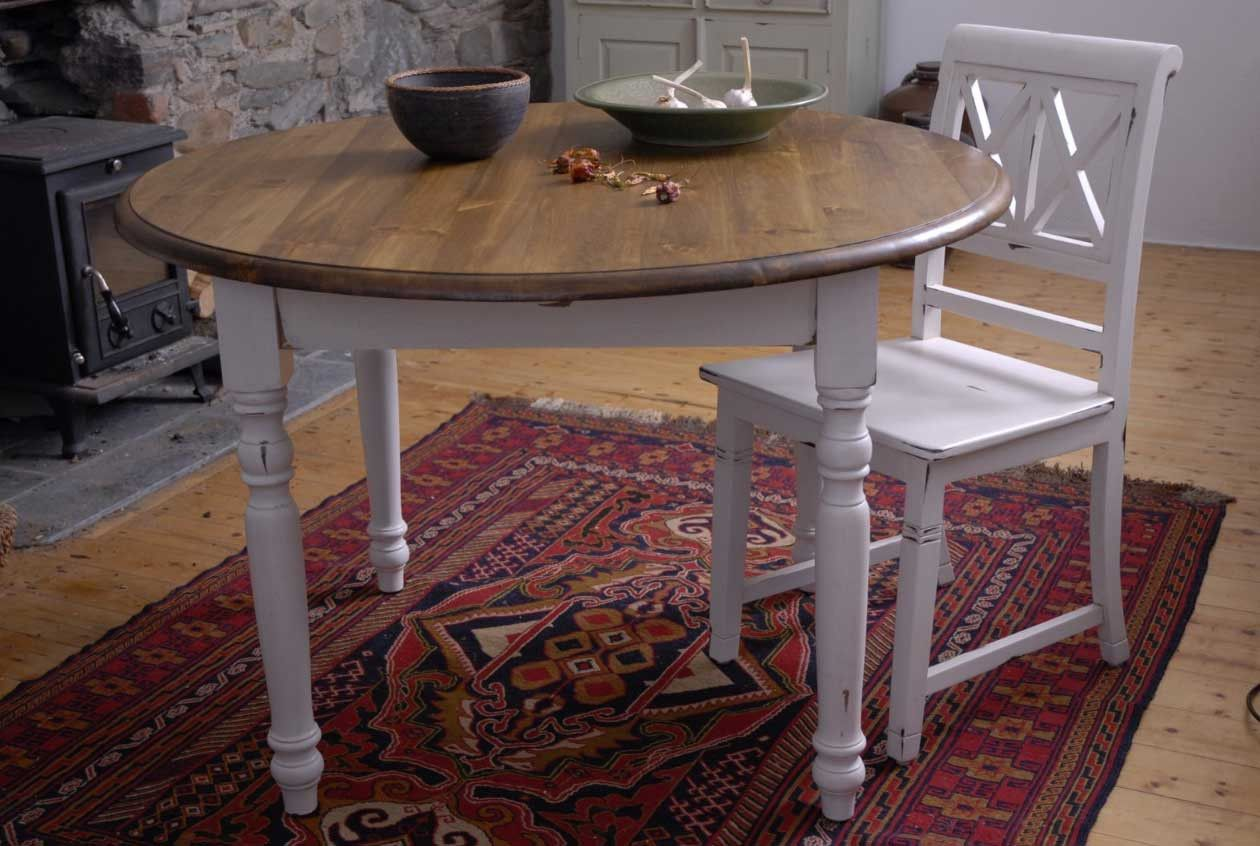 2019 Shabby Chic Round Dining Table And Chairs   Modern Design Furniture  Check More At Http