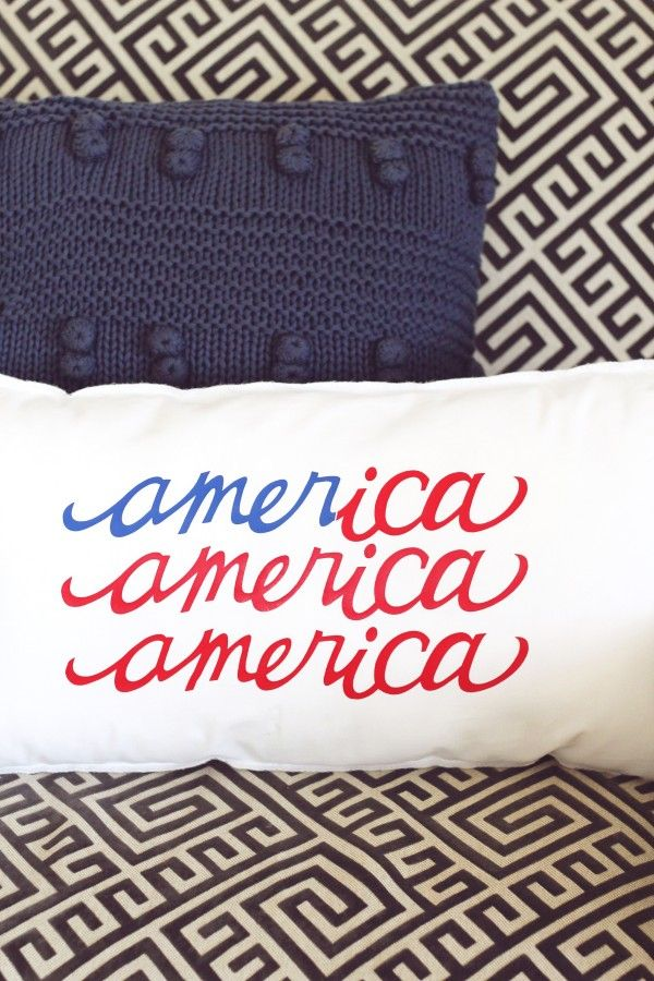 How cute is this American Flag Pillow? Supplies and Directions included with this tutorial.