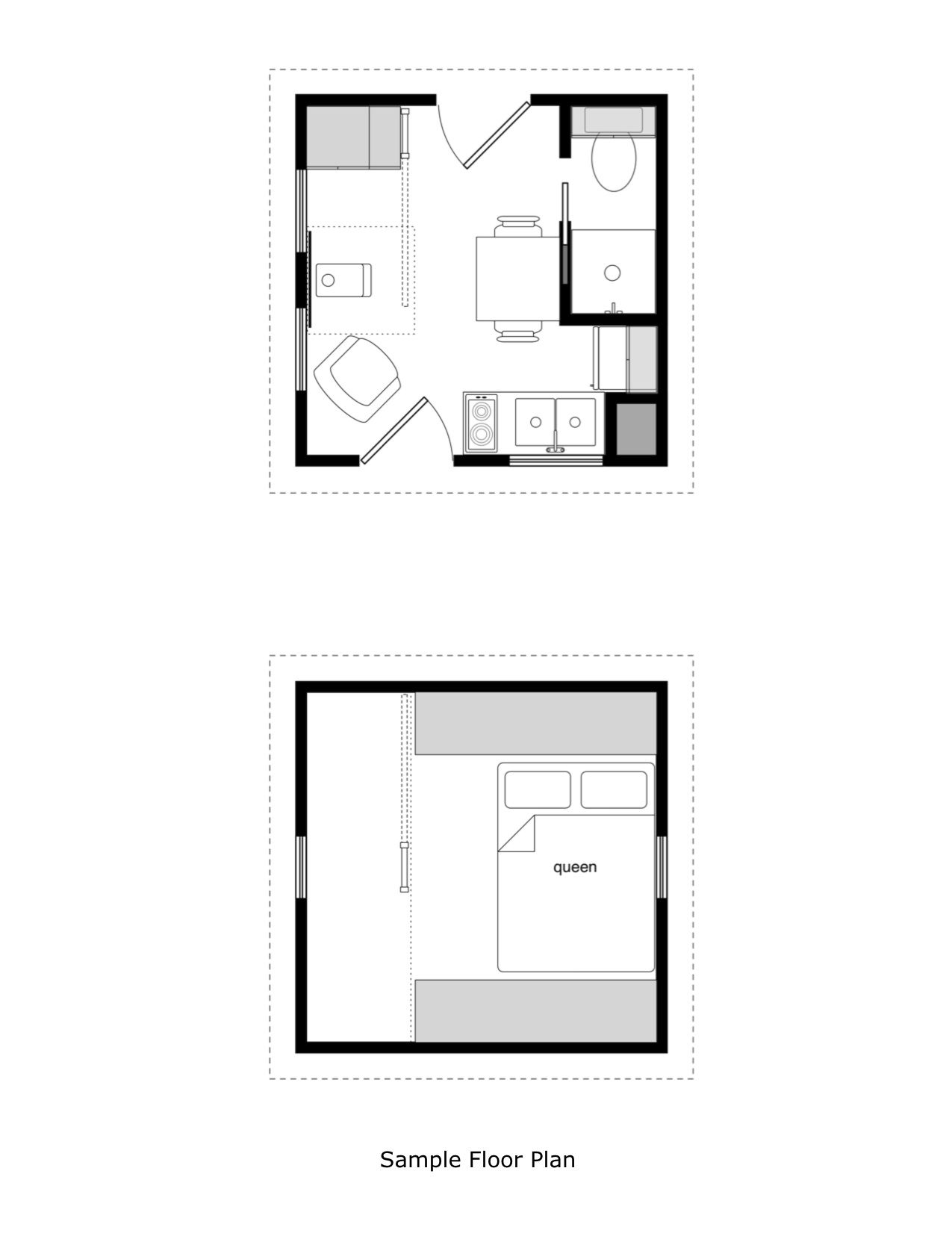 Prospector S Cabin 12x12 Floor Plan Tiny House Floor Plans Tiny Cabin Plans House Floor Plans