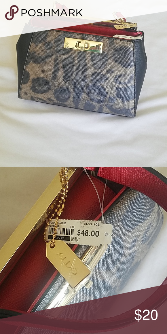 7e4df685828 Aldo purse BNWT New with tags Aldo purse. Measures 9 inches x 5 inches.  Leopard and red. Aldo Bags Mini Bags