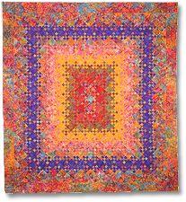 Batik Bloomin' Nine Patch Quilt
