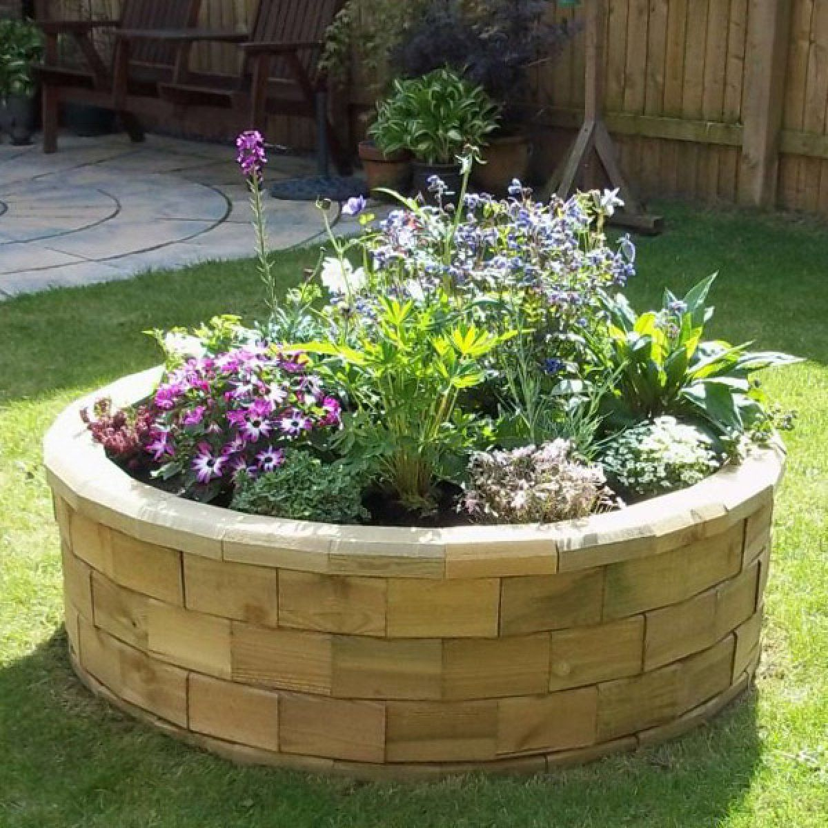 20 Raised Bed Garden Designs And Beautiful Backyard: Circular Raised Bed Best Seller / 1.23 X 0.35m