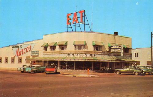 1950s Marcos Restaurant Escanaba Mi Cars 57 Chevy Say
