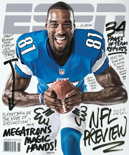 Nas Capas Espn Magazine Sports Magazine Covers Calvin Johnson