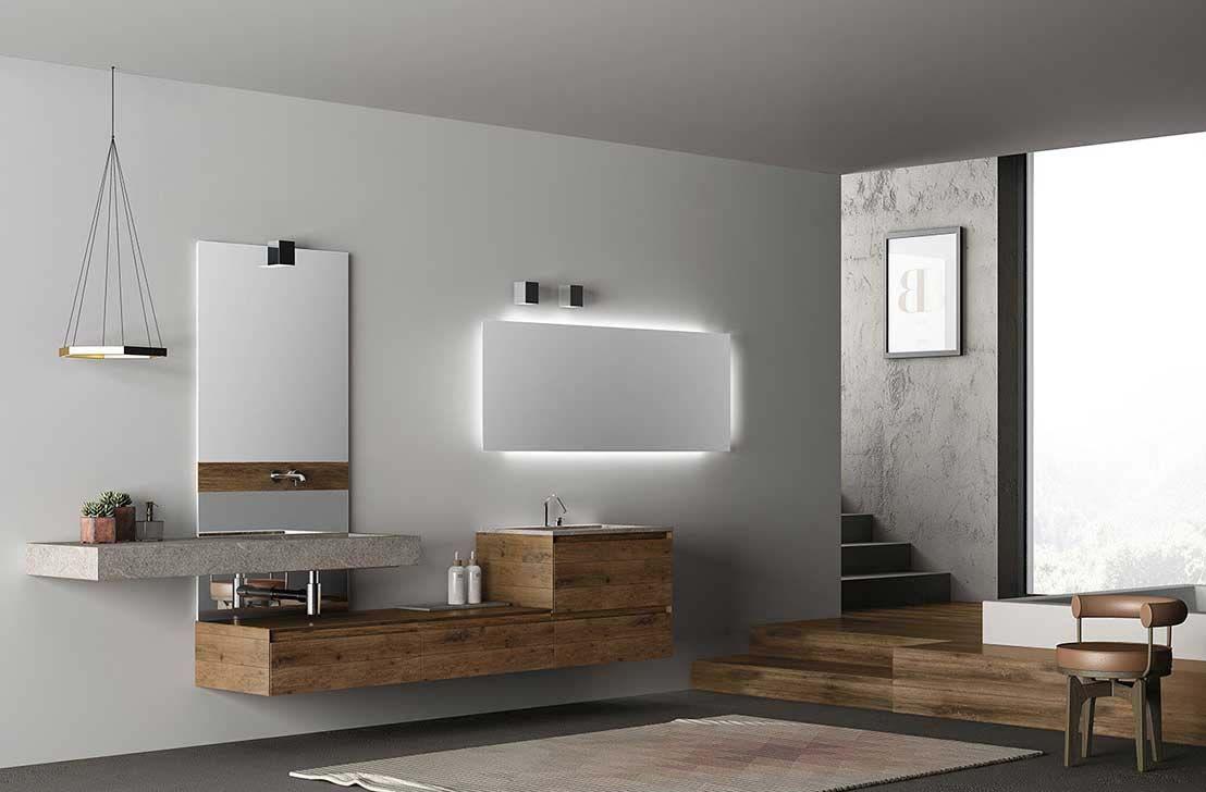 Collezione bagno design contemporaneo mobili bagno in fenix ntm