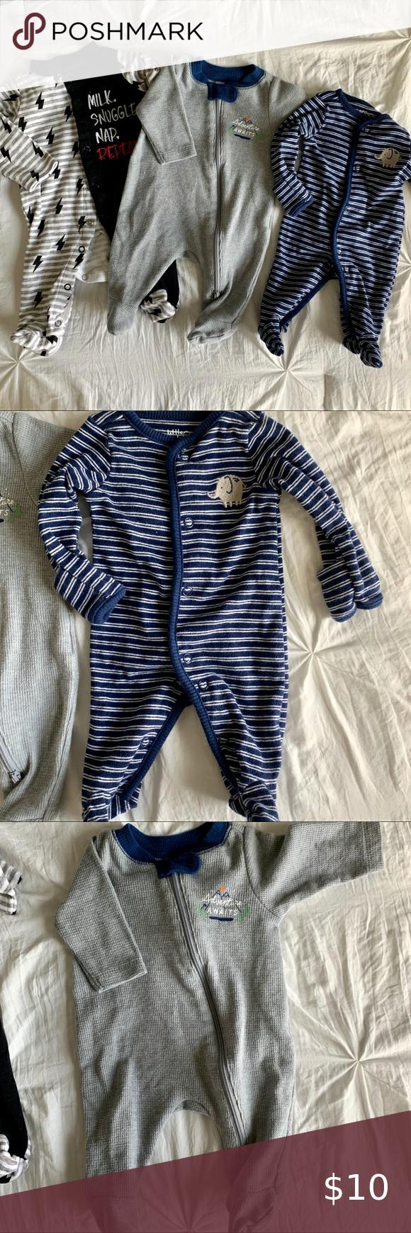 3 small newborn sleeper pajamas. in 2020 | Newborn sleeper ...
