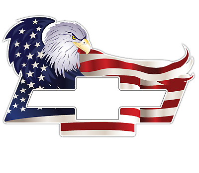 American Eagle Chevrolet Chevy Bowtie Us Flag Car Truck Vinyl Sticker Decal In 2020 Chevy Stickers American Flag Decal Cars American Flag Decal