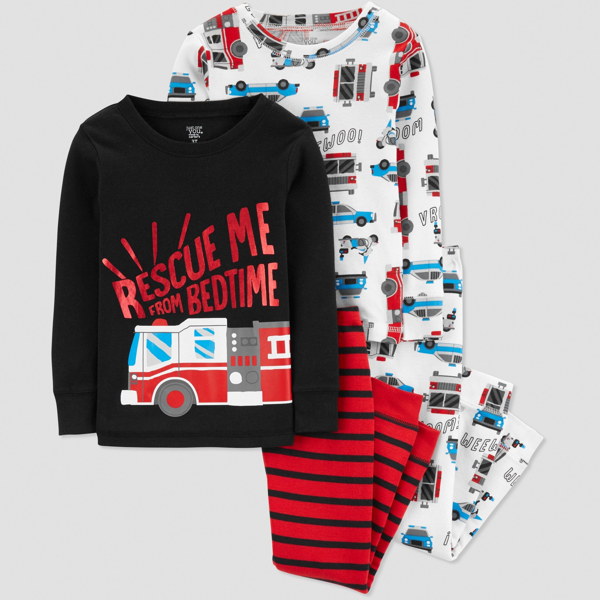 281335122ac2 Toddler Boys  4pc Rescue Me Bedtime Pajama Set - Just One You made ...
