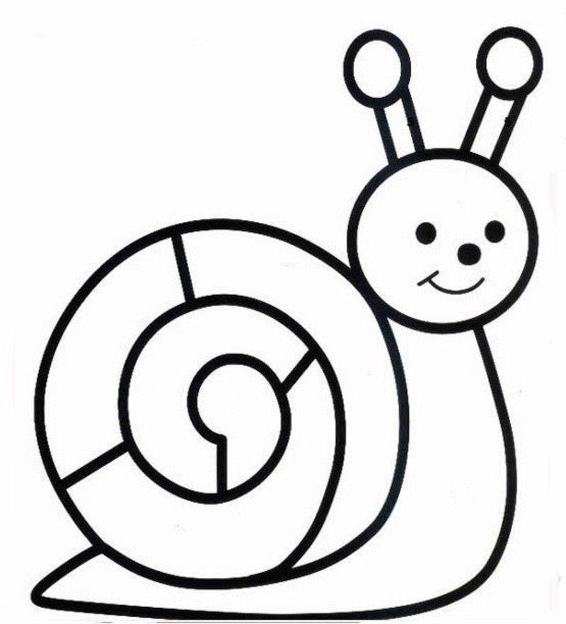 Escargot Pour Collage De Gommettes Escargot Preschool Worksheets