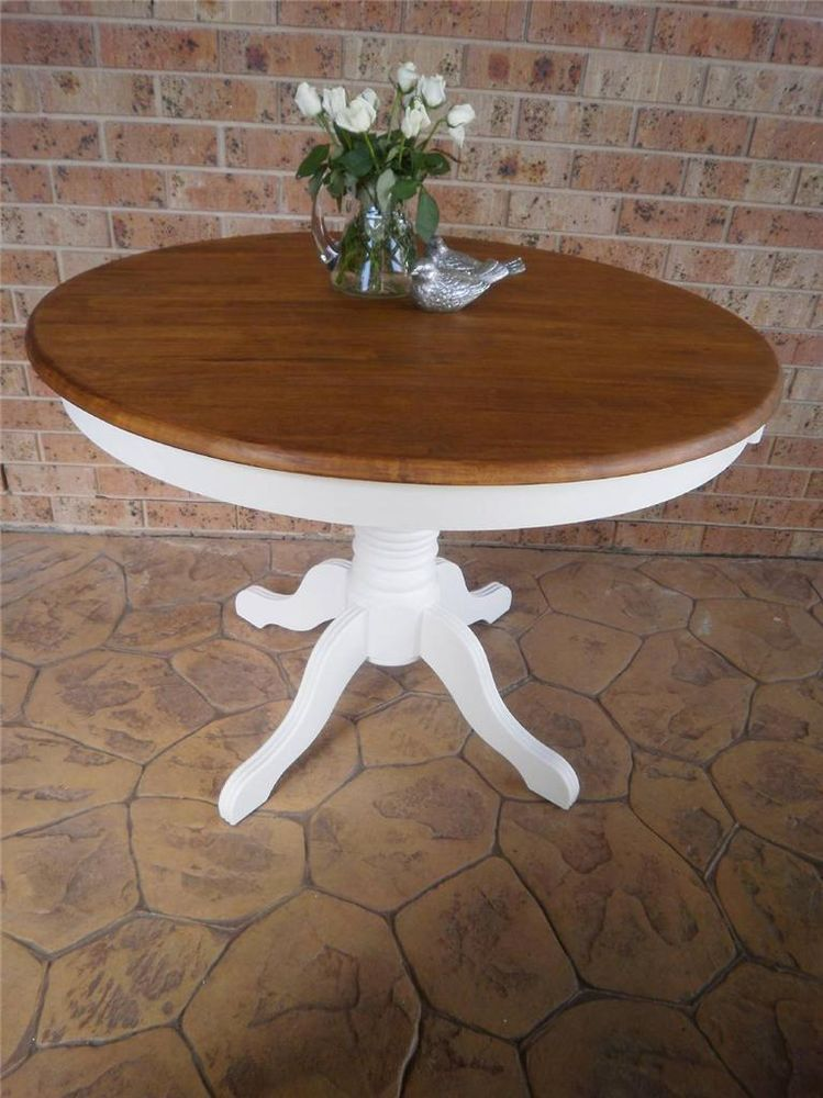 rustic vintage french country hamptons round kitchen dining pedestal rh pinterest com