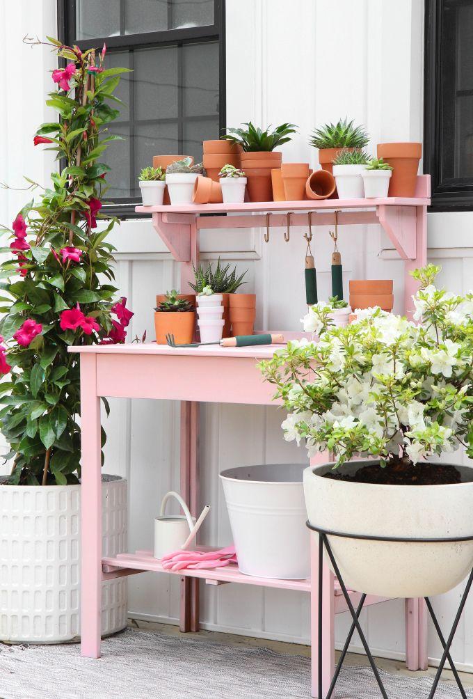 Photo of DIY MAKEOVER | Pink Potting Station – I SPY DIY