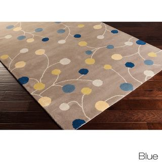 Hand Tufted Gum Drop Floral Runner Wool Area Rug 3 X 12