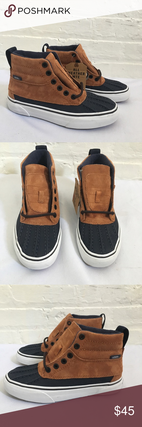 11df957a55c5 Boys Vans Scotch Guard 3M Sk8-Hi Brand new with tags no box never worn vans  sk8-hi waterproof shoes. Laces are tucked inside Vans Shoes Sneakers