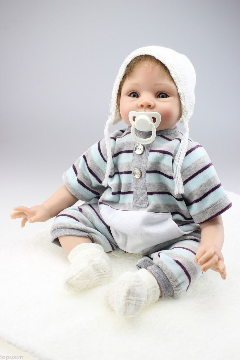 22'' 55cm silicon lifelike reborn baby doll new born doll cute baby