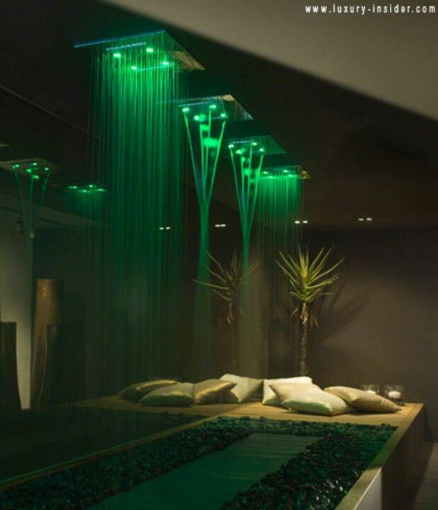 showe) Rain fall style shower head with LED lights   Master Bath ...