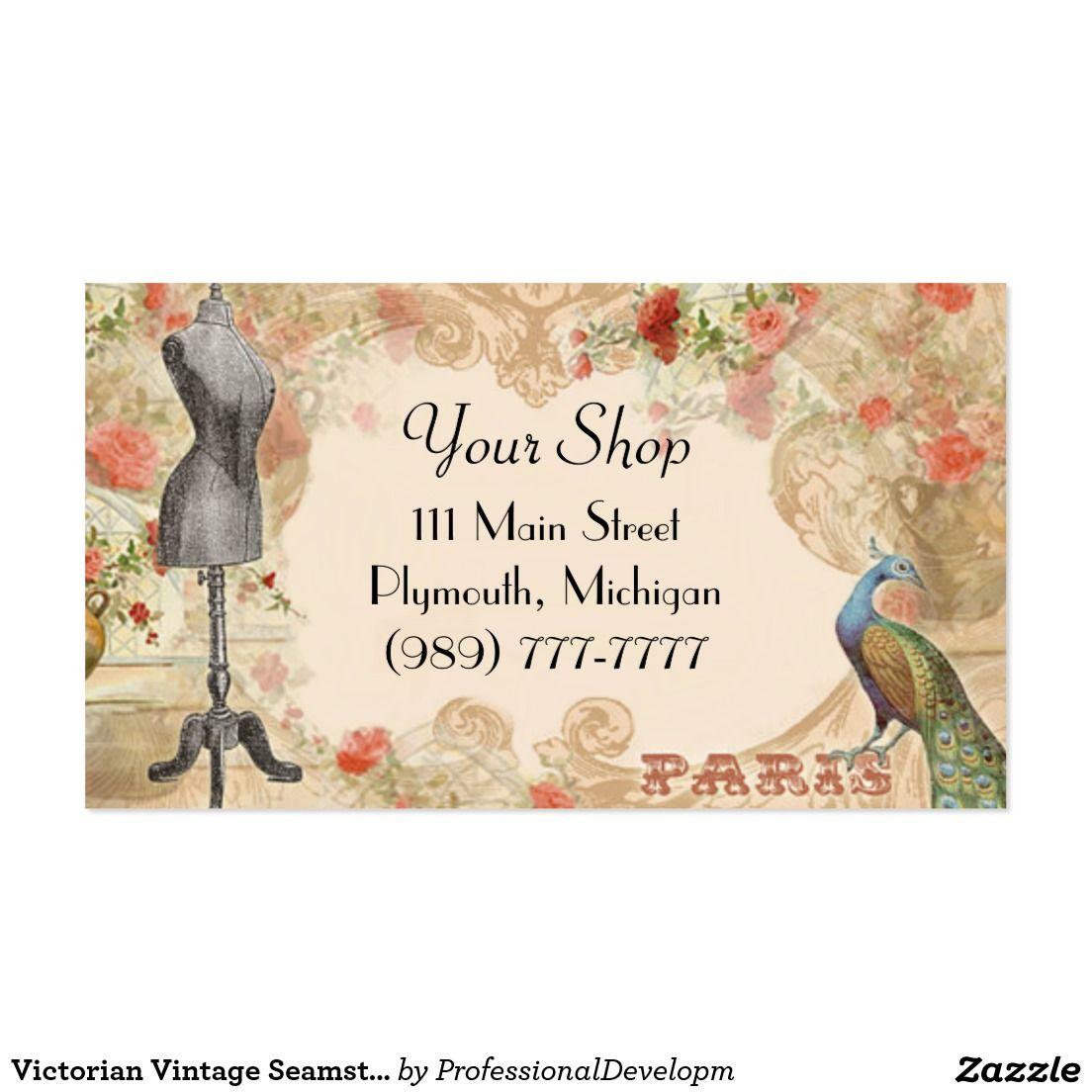 Victorian Vintage Seamstress Business Card | Vintage Postcards ...