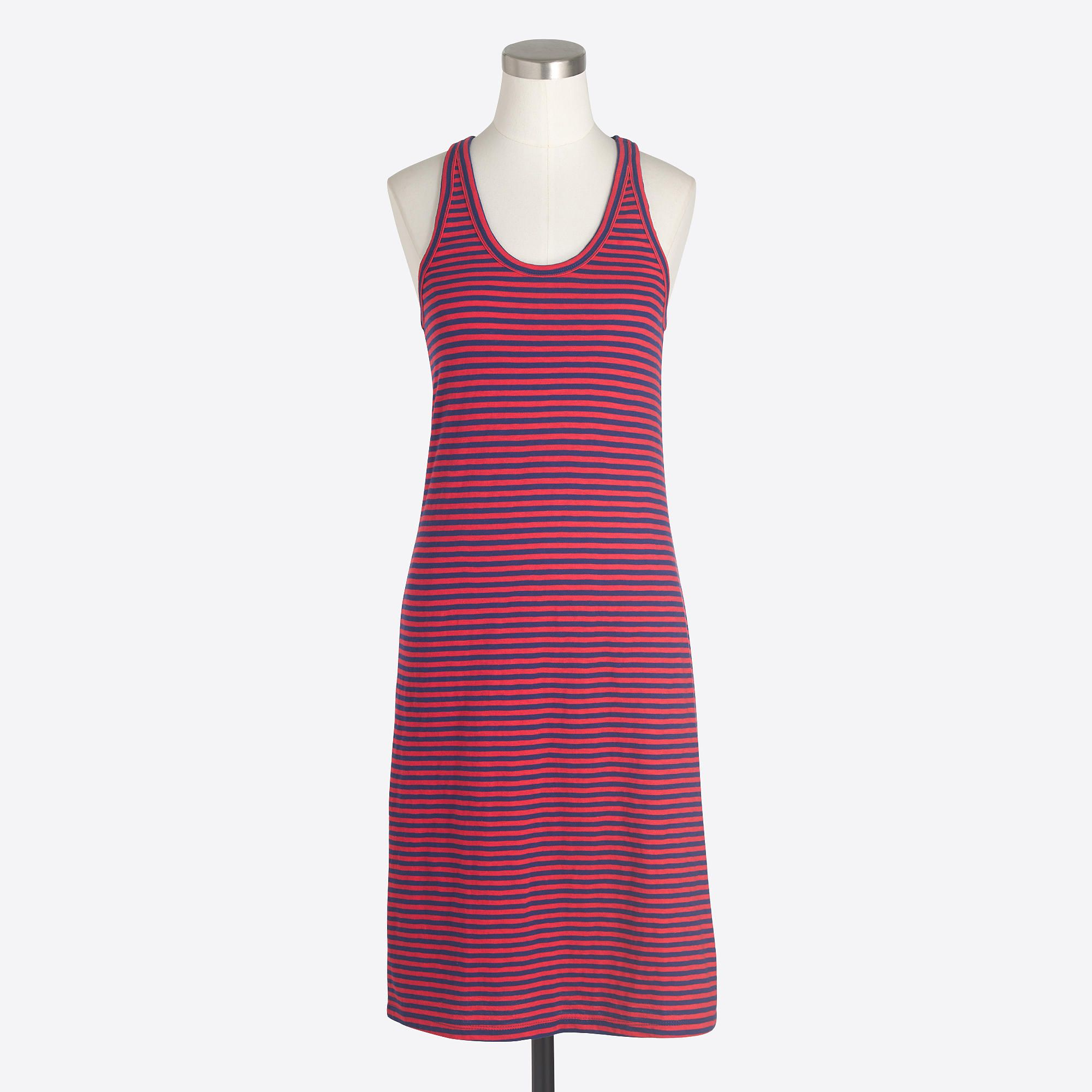 Red And Navy Striped Racerback Dress Casual Dresses Racerback Dress Clothes For Women [ 2000 x 2000 Pixel ]