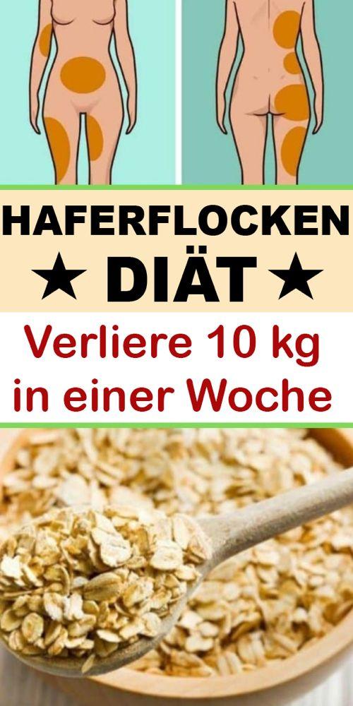 Bis 10 Pfund in einer Woche verlieren durch den 7-Tage-Haferflocken-Diätplan - Hogmag #fitnesshealth