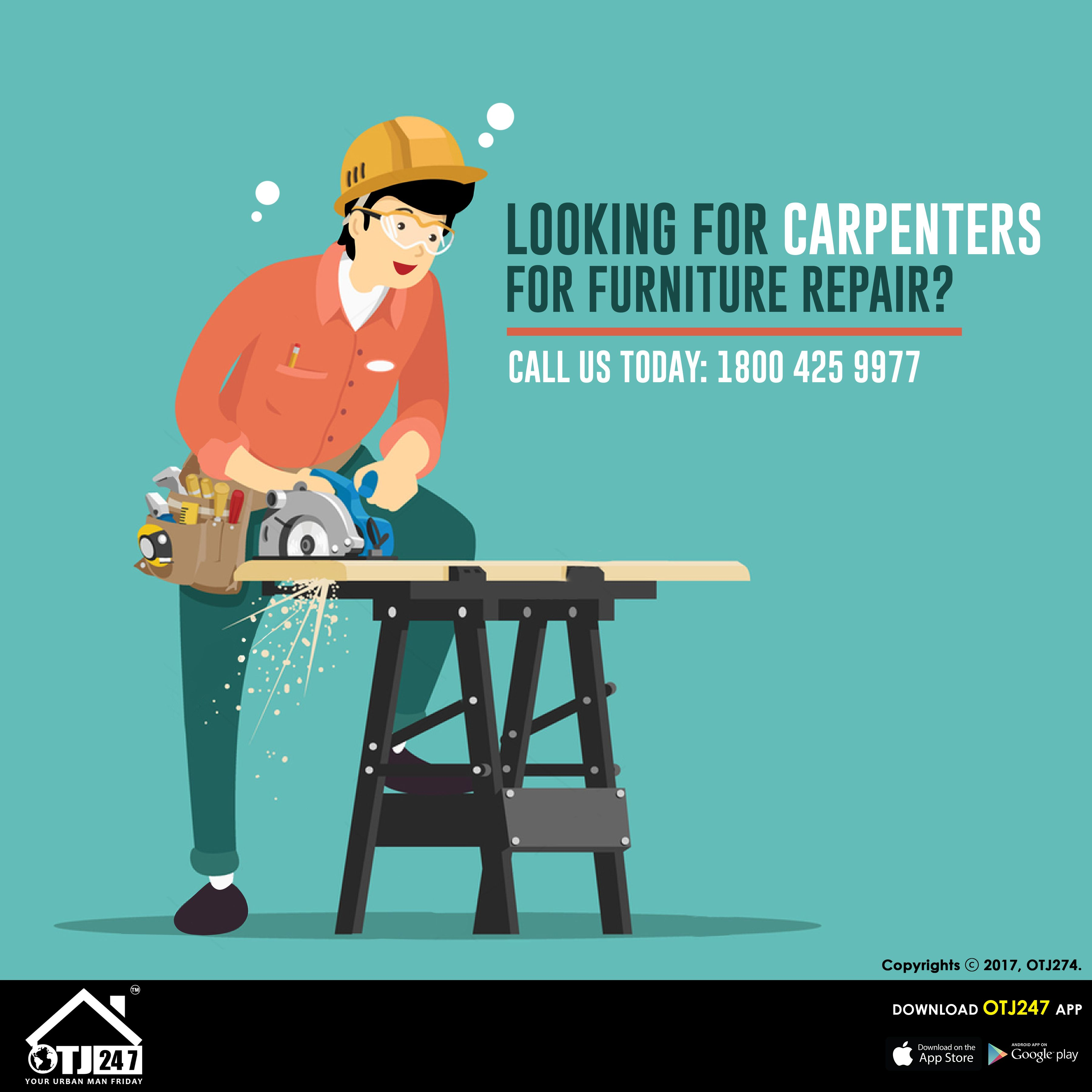 Looking For Carpenters For Furniture Repair? Book Now