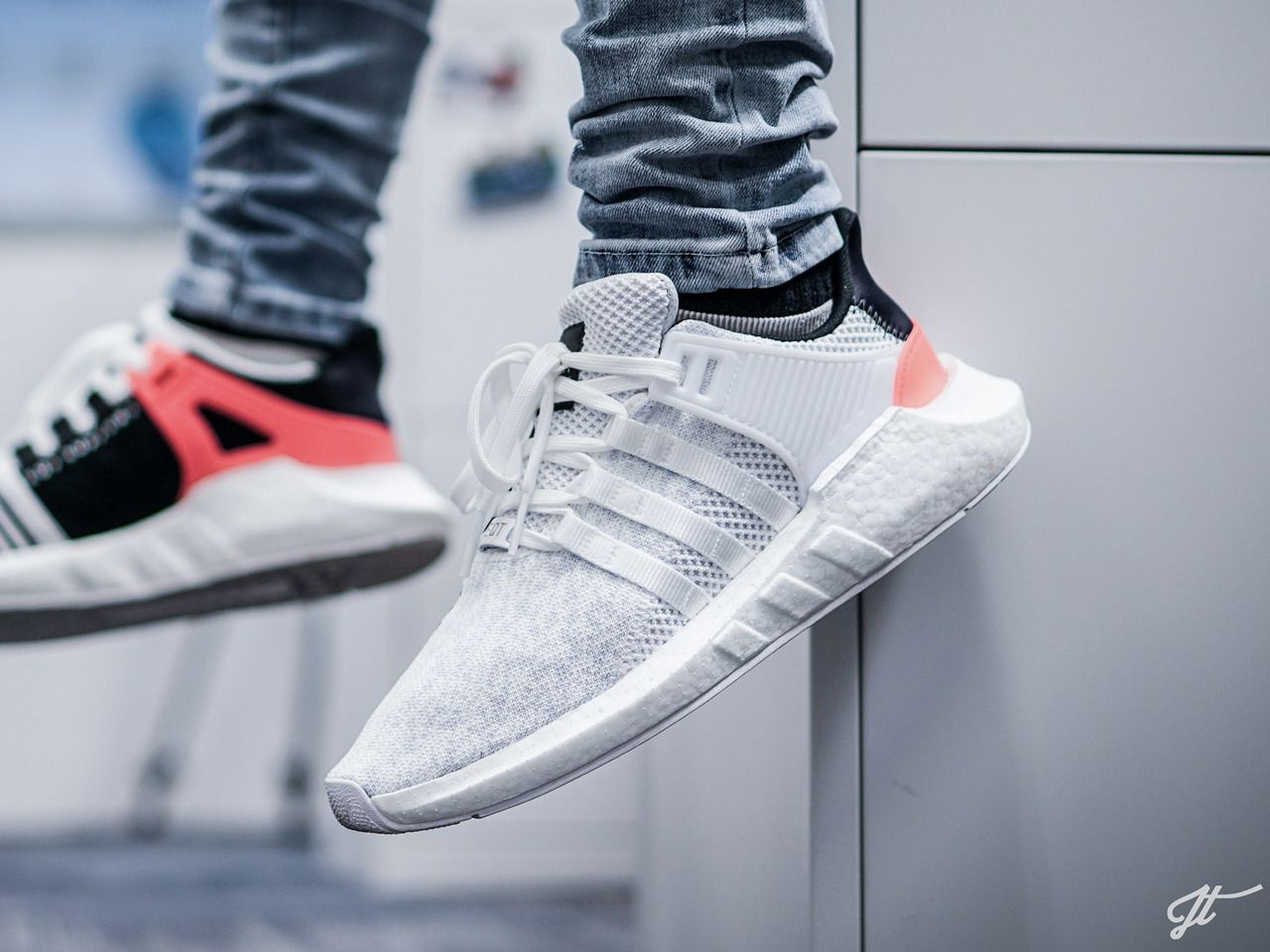 Free shoes · Adidas EQT Support Boost 93/17 - White/Turbo Red - 2017 (by