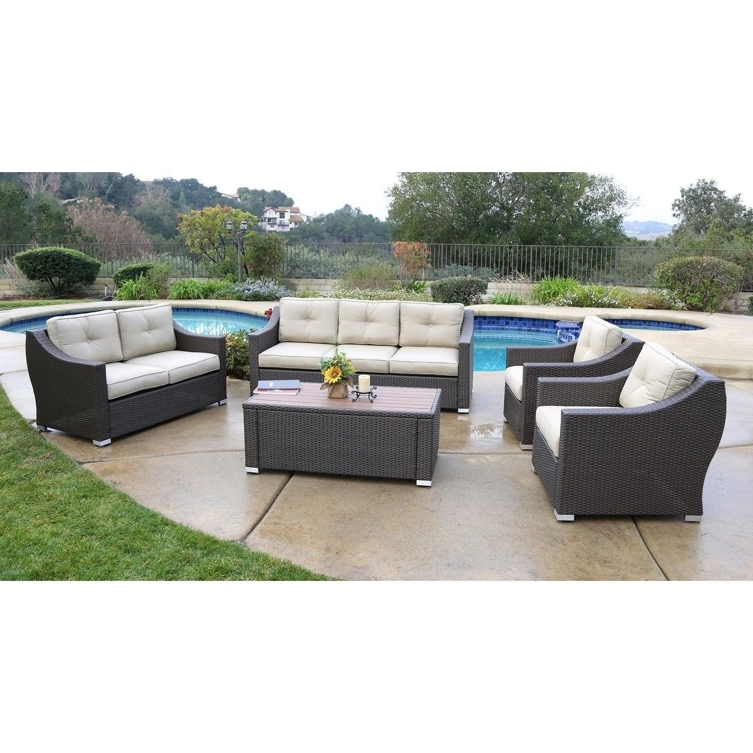 south beach 5 pieces deep seating set brown patio furniture rh pinterest com